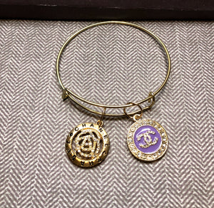CC Purple & Gold Charmed Bangle
