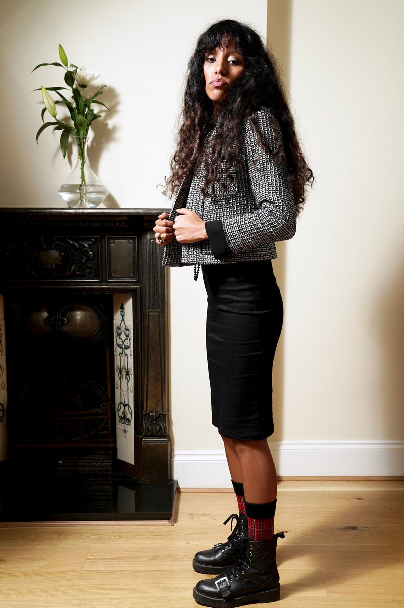 Angel Black Shaping Pencil Skirt.