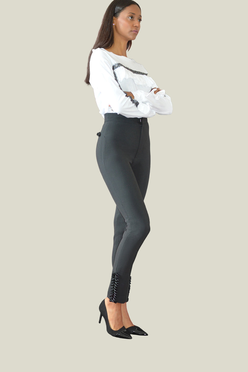 Emmeline Black Shaping Skinny Fit Trousers