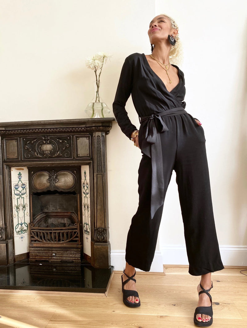 Mayfair Black Jumpsuit Straight Cut.