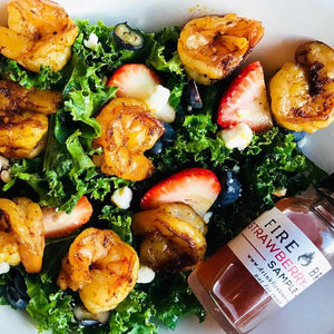 Summer Strawberry Kale Salad