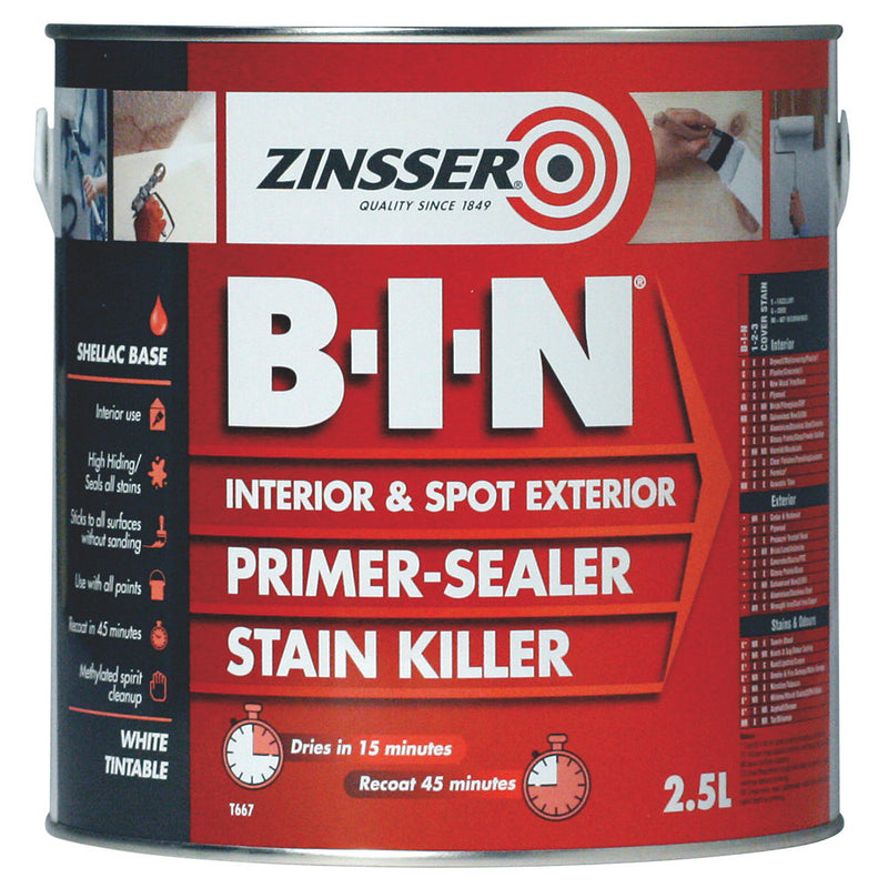 Zinsser B-I-N Shellac Based Primer Sealer