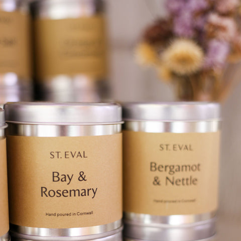 St Eval Bay and Rosemary tin candle