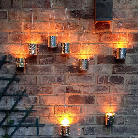 Creative outdoor lighting from St Eval tin candles