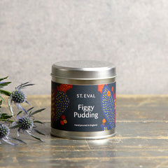 Figgy Pudding tin candle
