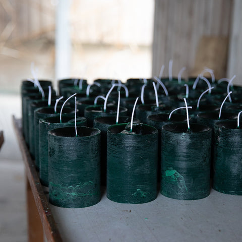 Winter Thyme candles cooling off