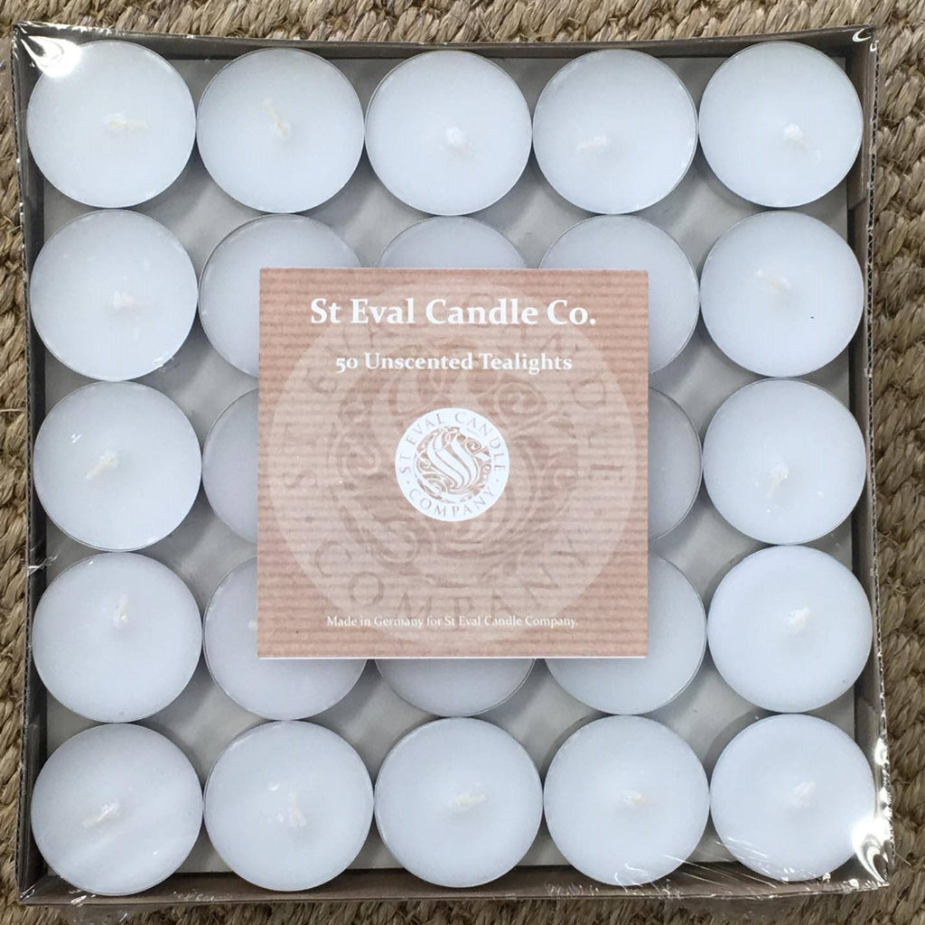 Unscented Tealights - large pack of 50