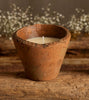 Apple & Elderflower large scented terracotta candle pot