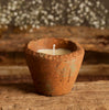 Apple & Elderflower scented terracotta candle pot