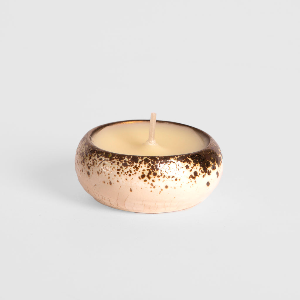 Bay & Rosemary Scented Glazed Tealight Holder