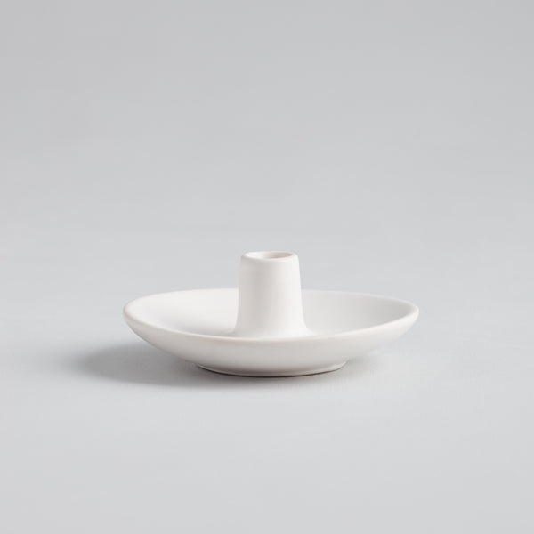 "Matte White Mini  ½"" Candle Holder"