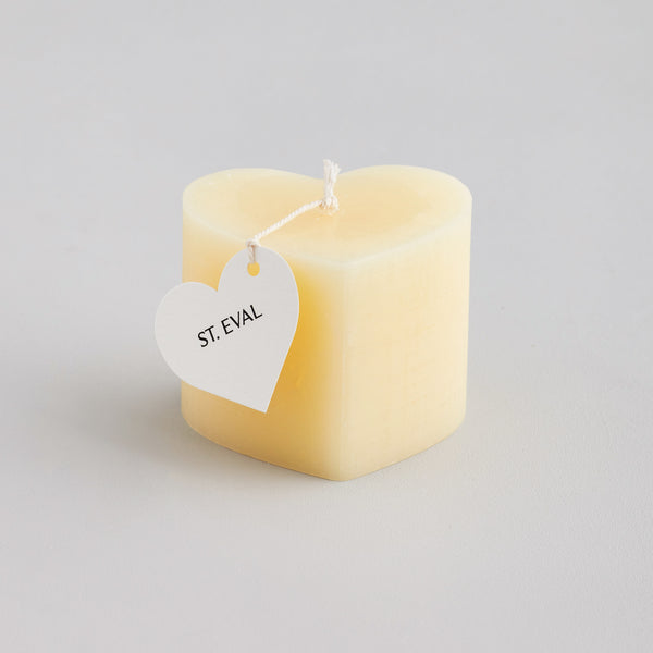 Ivory Mini Heart Candle, Unfragranced