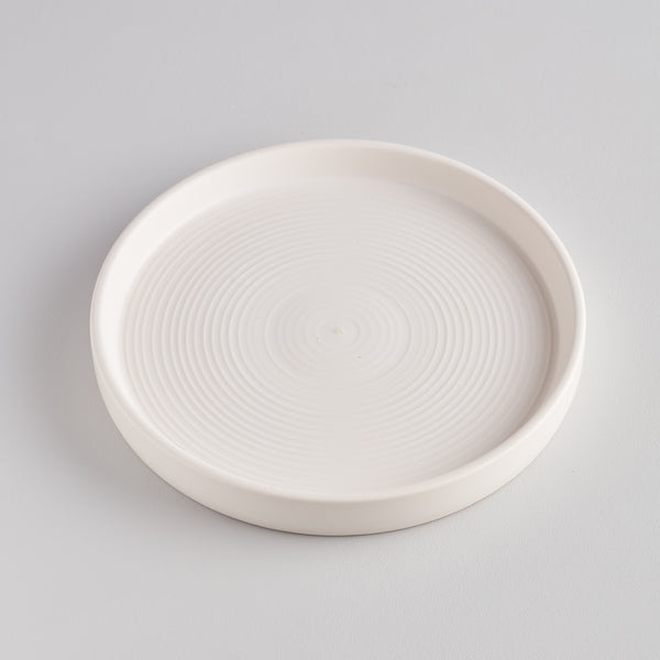 White Candle Plate, Large