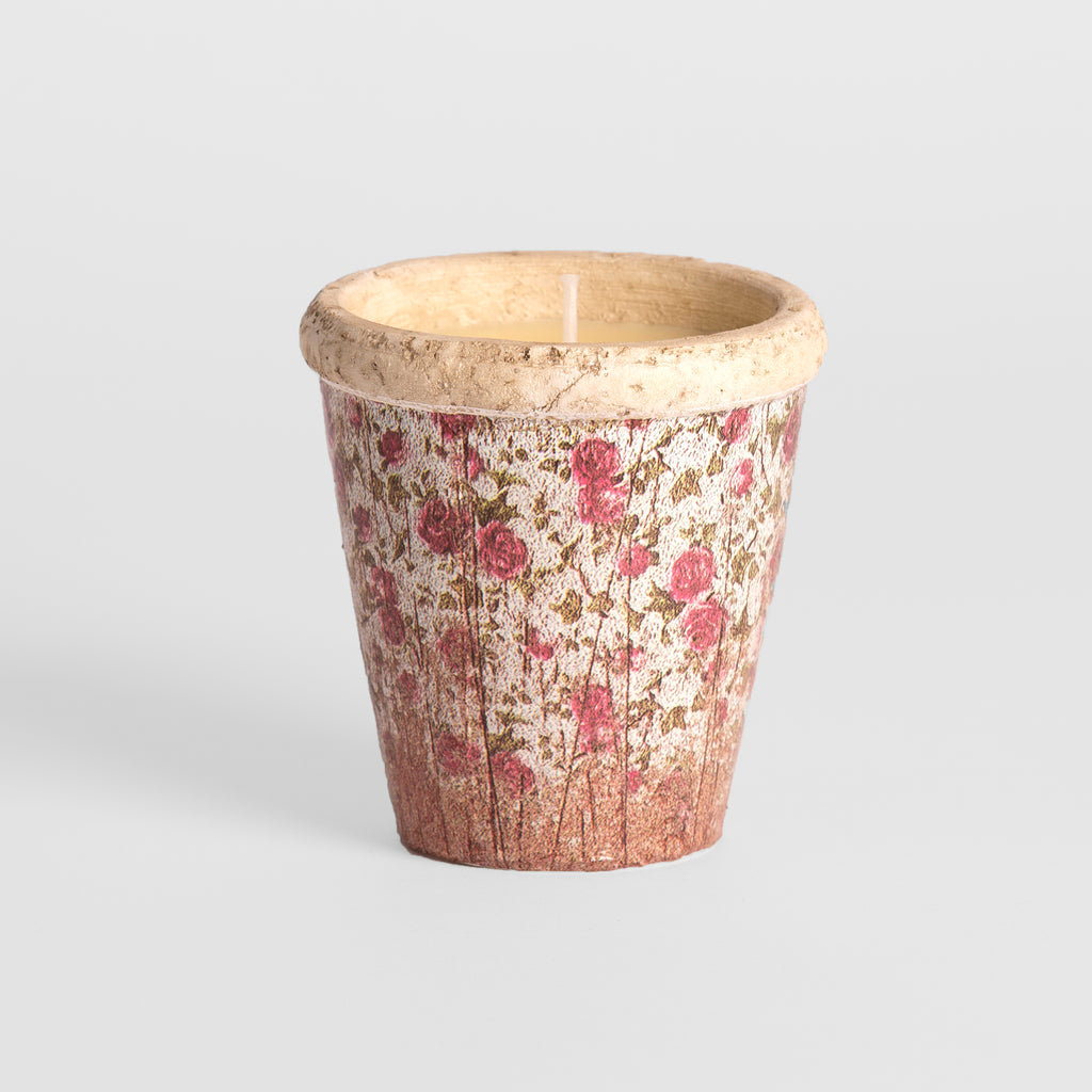 Rose Garden Pink Floral Large Pot