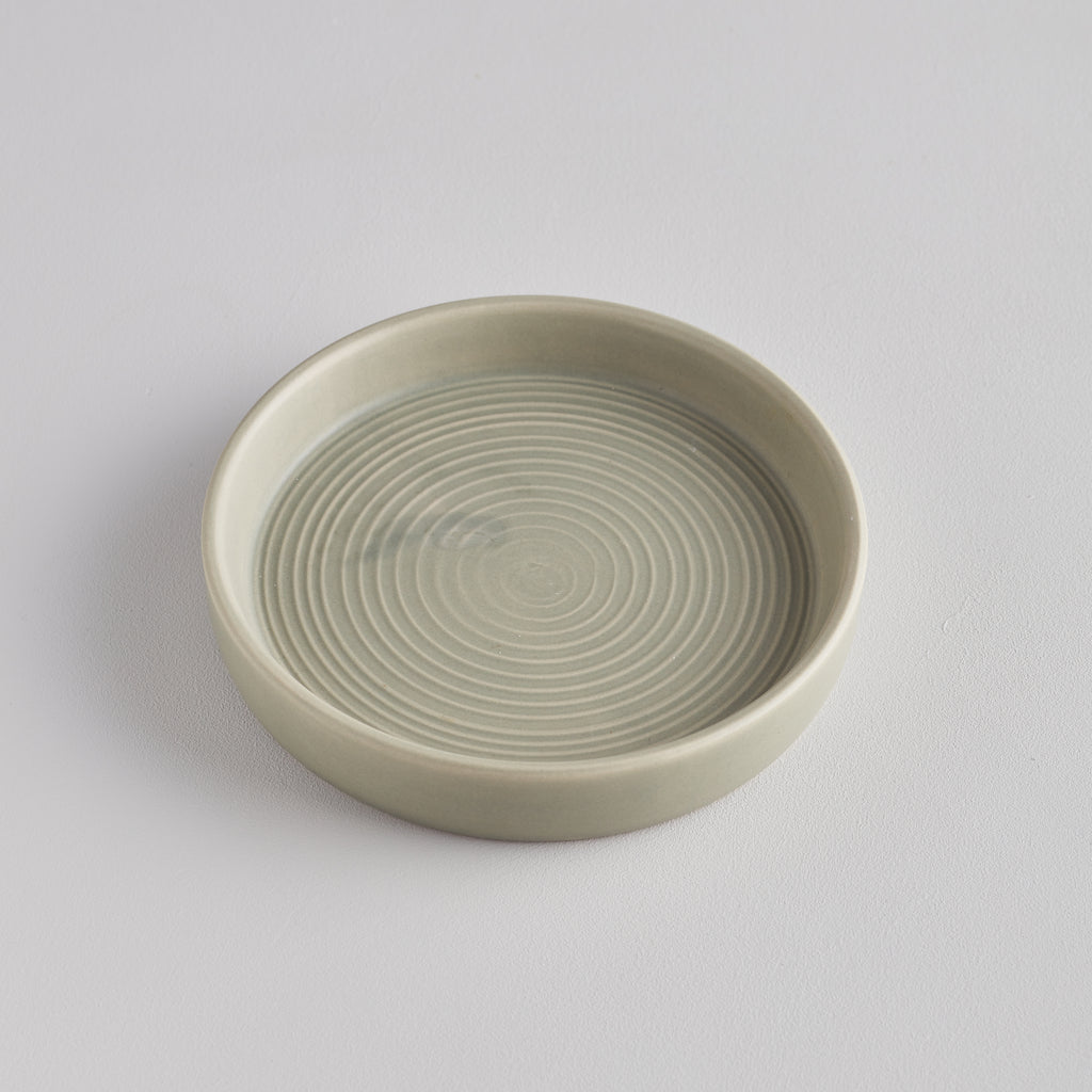 Light Grey-Green Candle Plate, Small