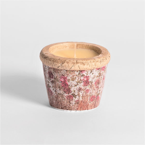 Rose Garden Pink Floral Small Pot