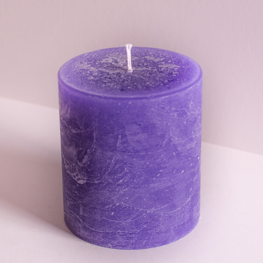 Rustic Purple Lavender Pillar