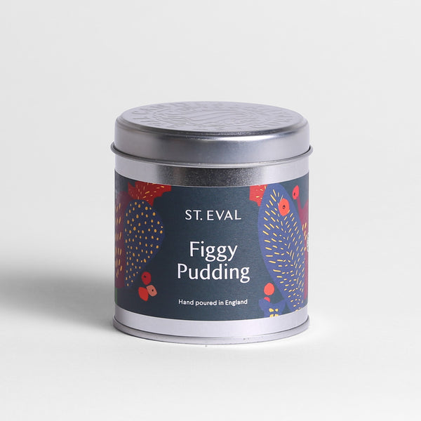 Figgy Pudding Scented Christmas Tin Candle