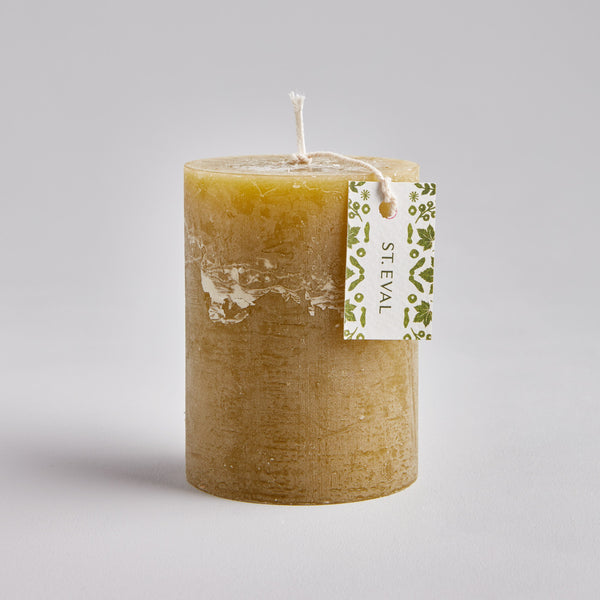 "Moss, Folk 3""x4"" Scented Pillar Candle"