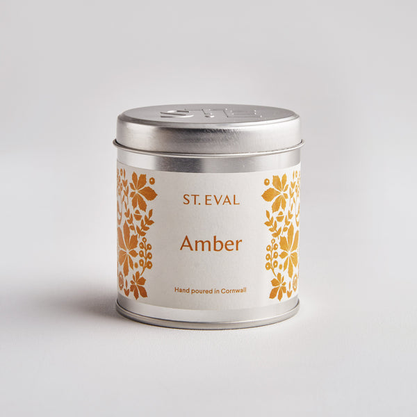 Amber, Folk Scented Tin Candle