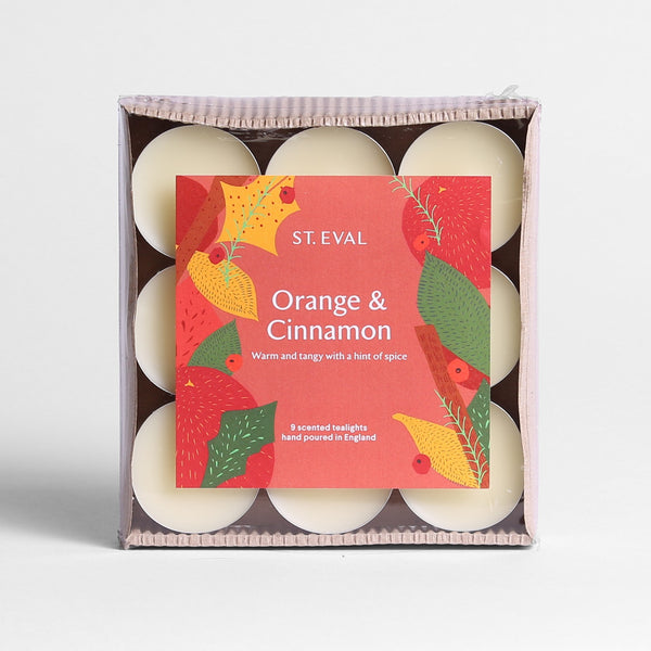 Orange & Cinnamon Scented Christmas Tealights