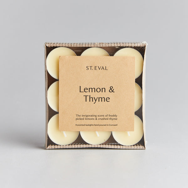 Lemon & Thyme Scented Tealights