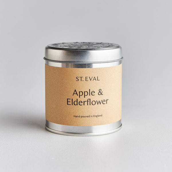 Apple & Elderflower Scented Tin Candle