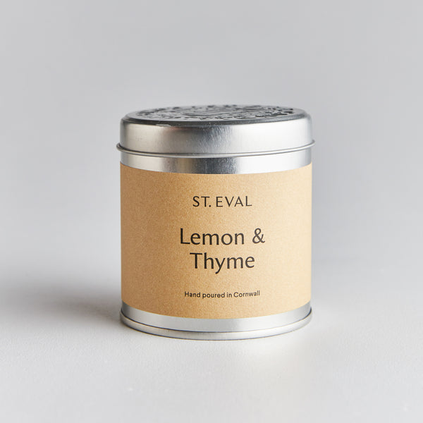 Lemon & Thyme Scented Tin Candle