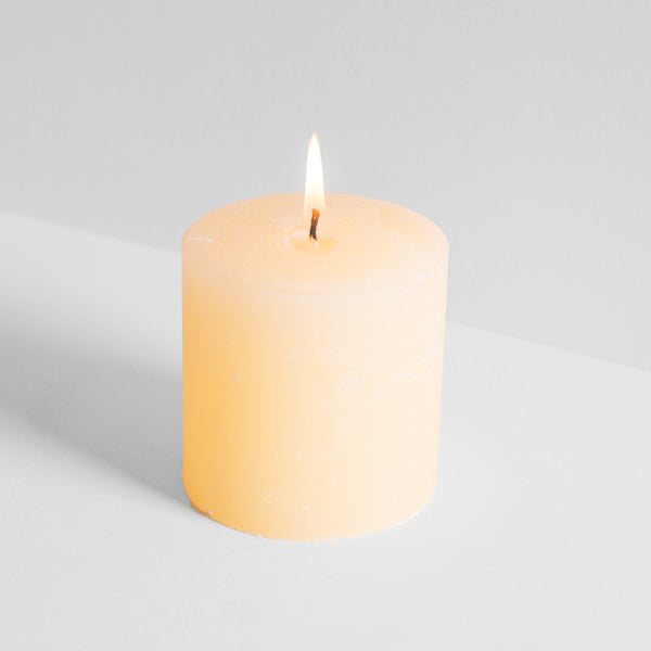 "Grapefruit & Lime Scented 3""x 3"" Pillar Candle"