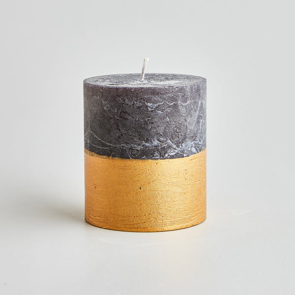 Embers Gold Dipped Pillar Candle