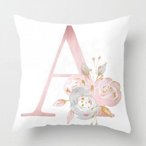 Home Decoration English Alphabet Design Cushion Cover