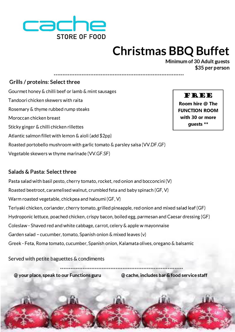 Christmas BBQ Buffet