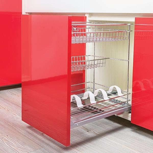 3 TIER DRAWER BASKET C/W FULL EXT RUNNER