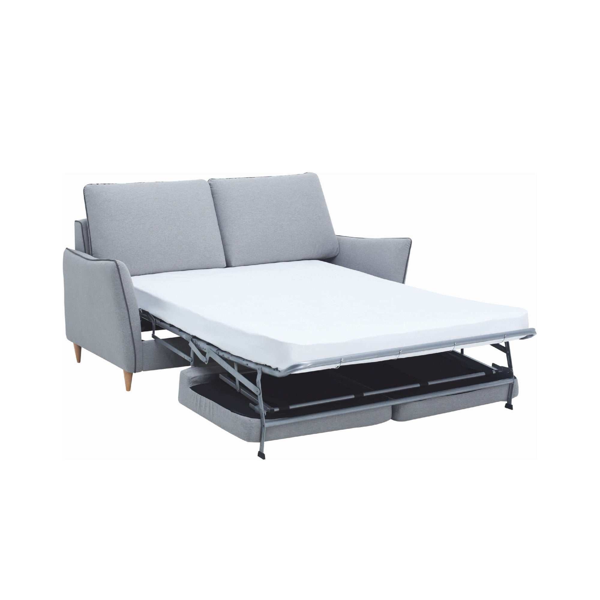 Agera Sofa Bed with Pale Silver Colour Dimity Fabric