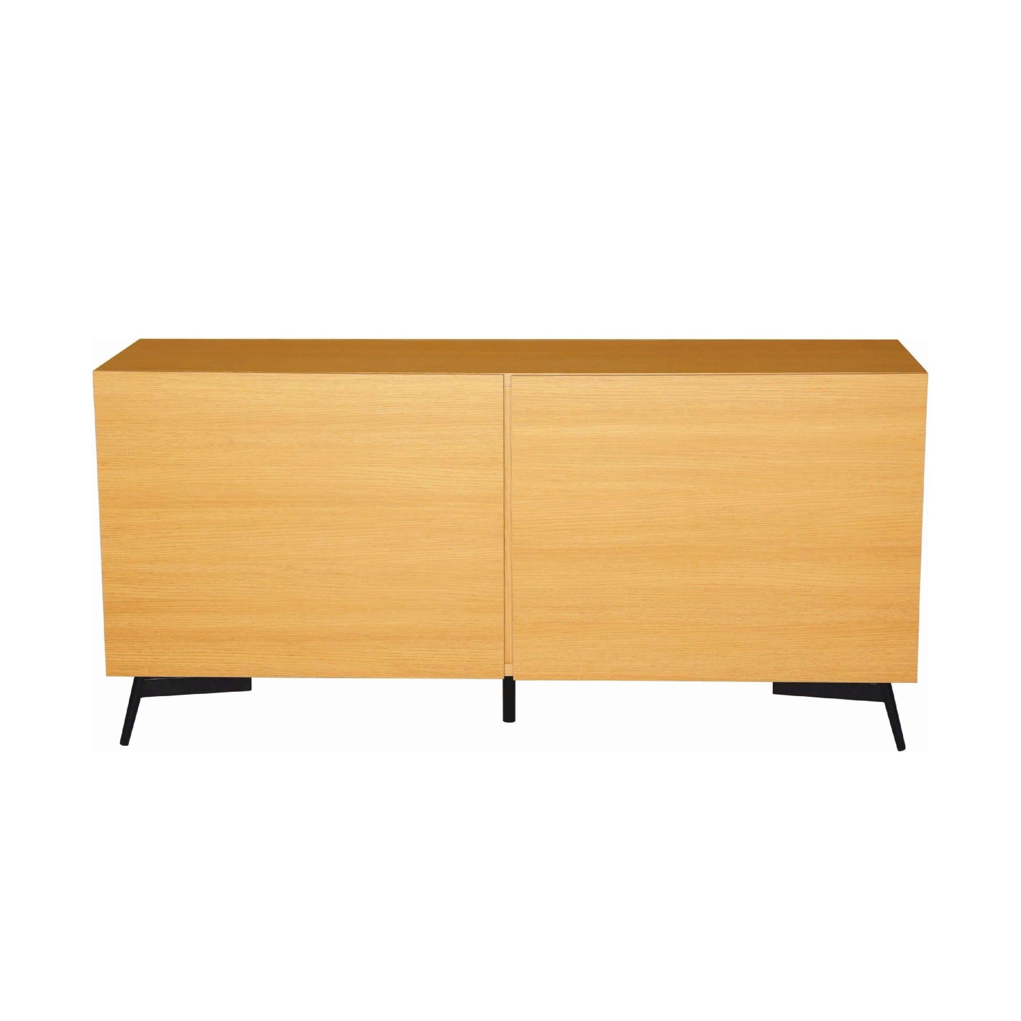 AKON Sideboard On Matt Black Epoxy Leg, Oak Laminate Body