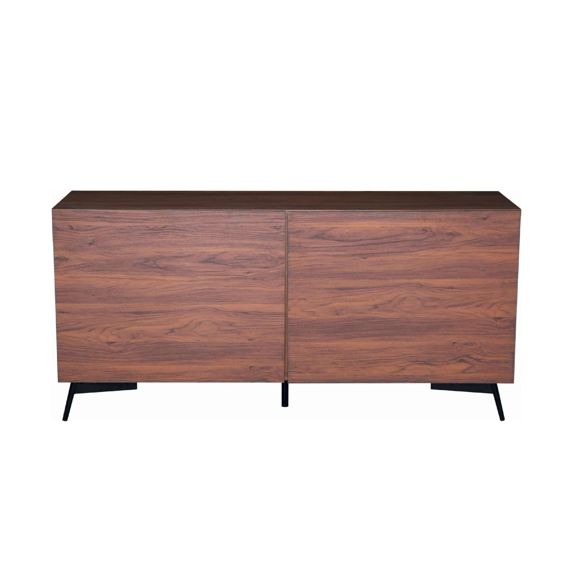 AKON Sideboard On Matt Black Epoxy Leg, Walnut Laminate Body