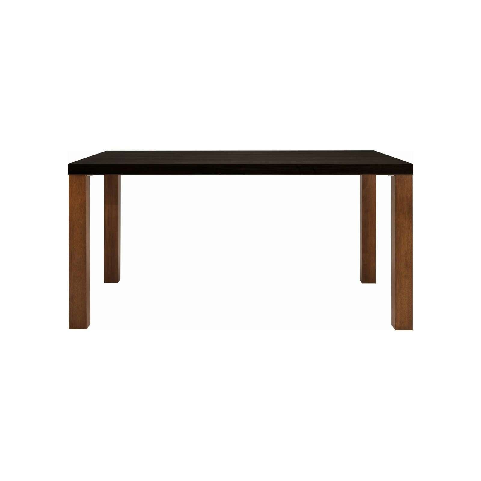 BRENT 1.5m Table in Black - Stained Ash Veneer with Walnut Color Straight Leg