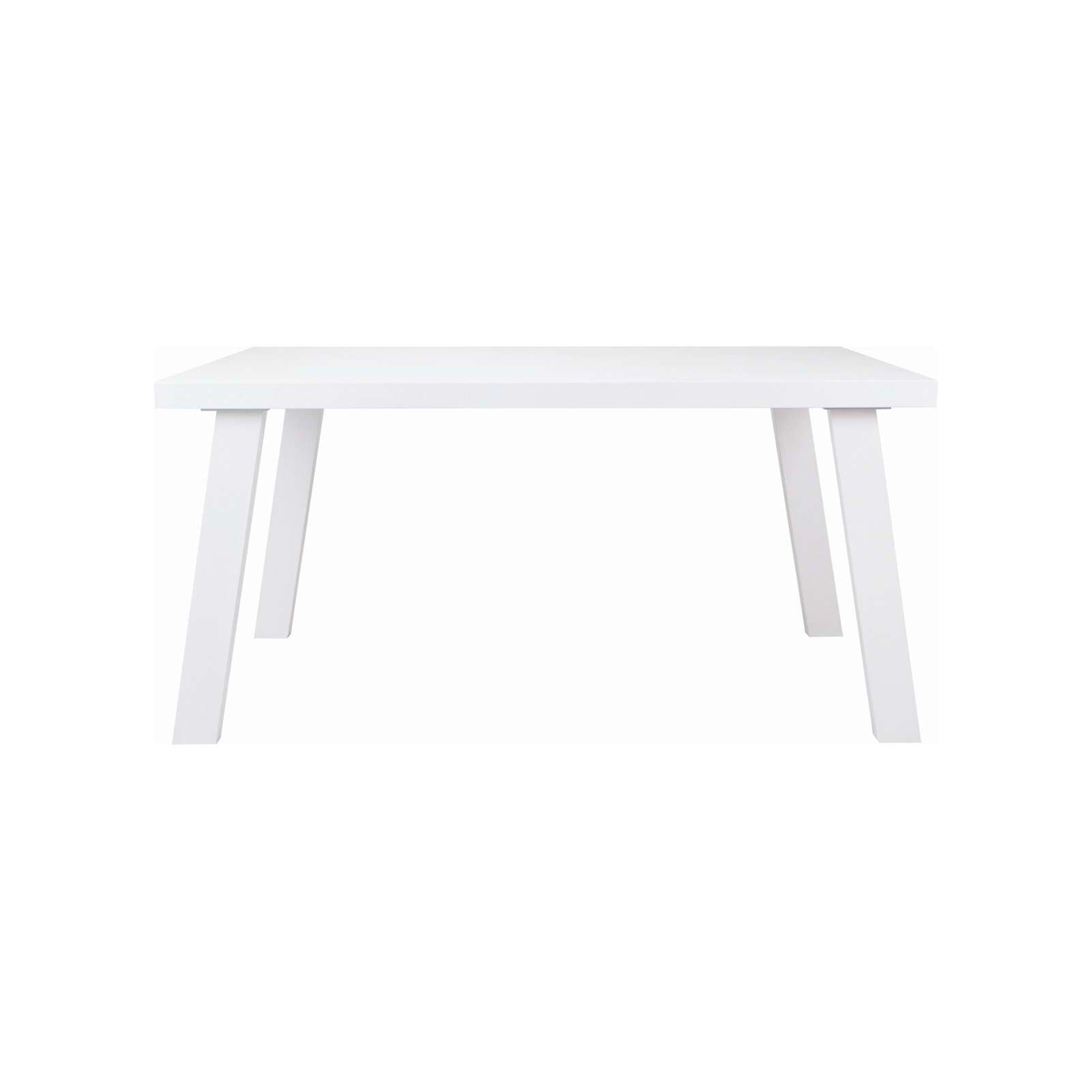 BRENT 1.5m Table In White Lacquered With White Lacquered Slant Leg