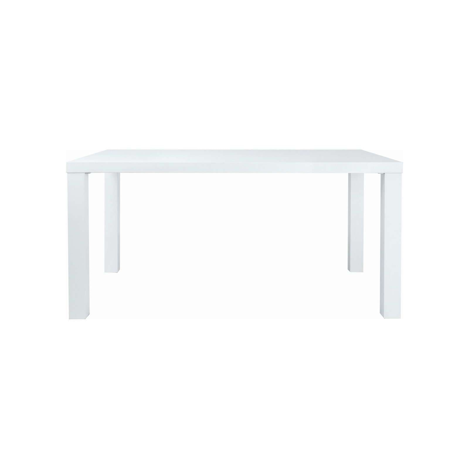 BRENT 1.5m Table in White Lacquered with White Lacquered Straight Leg