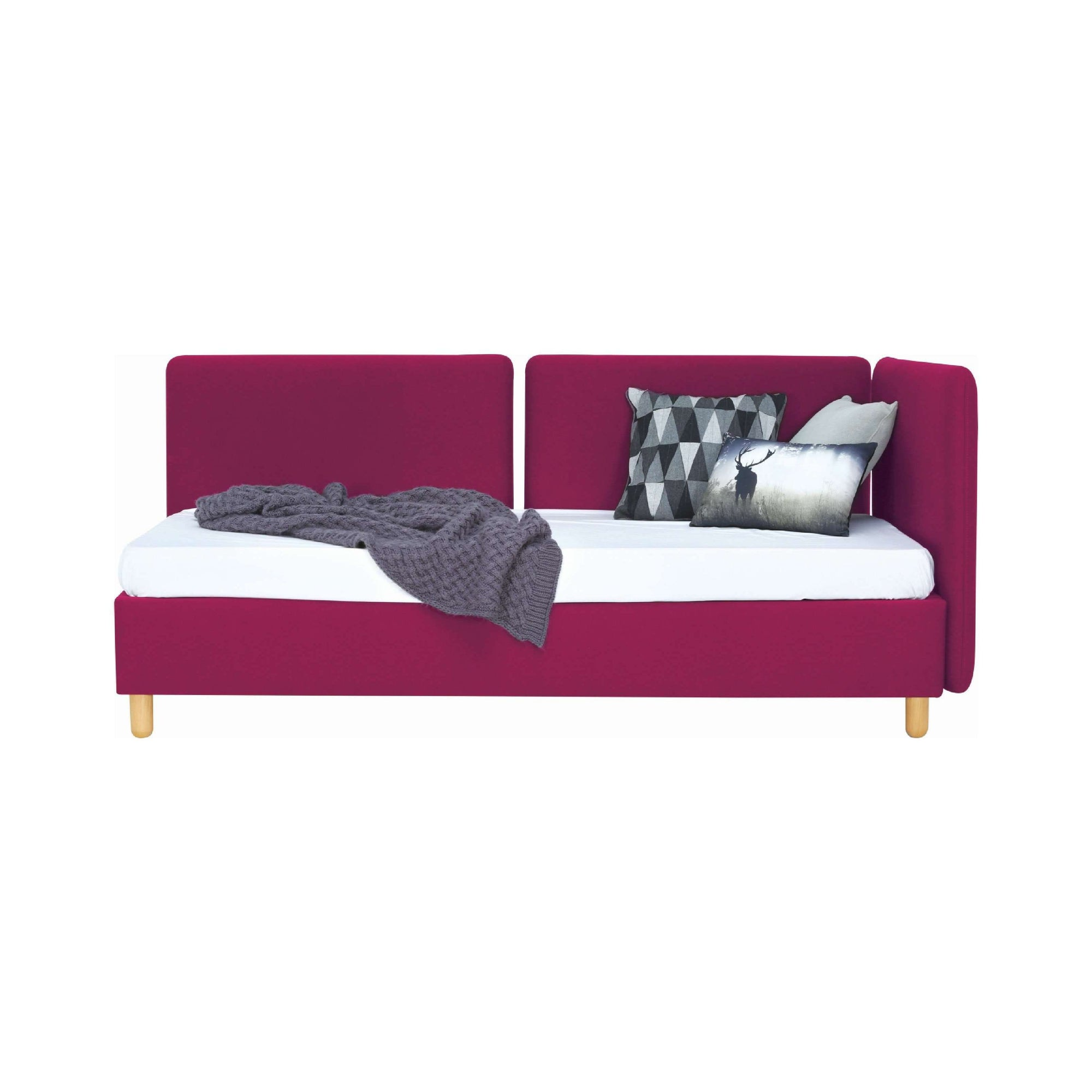BRISKA Daybed with Ruby Colour Scarlet Fabric
