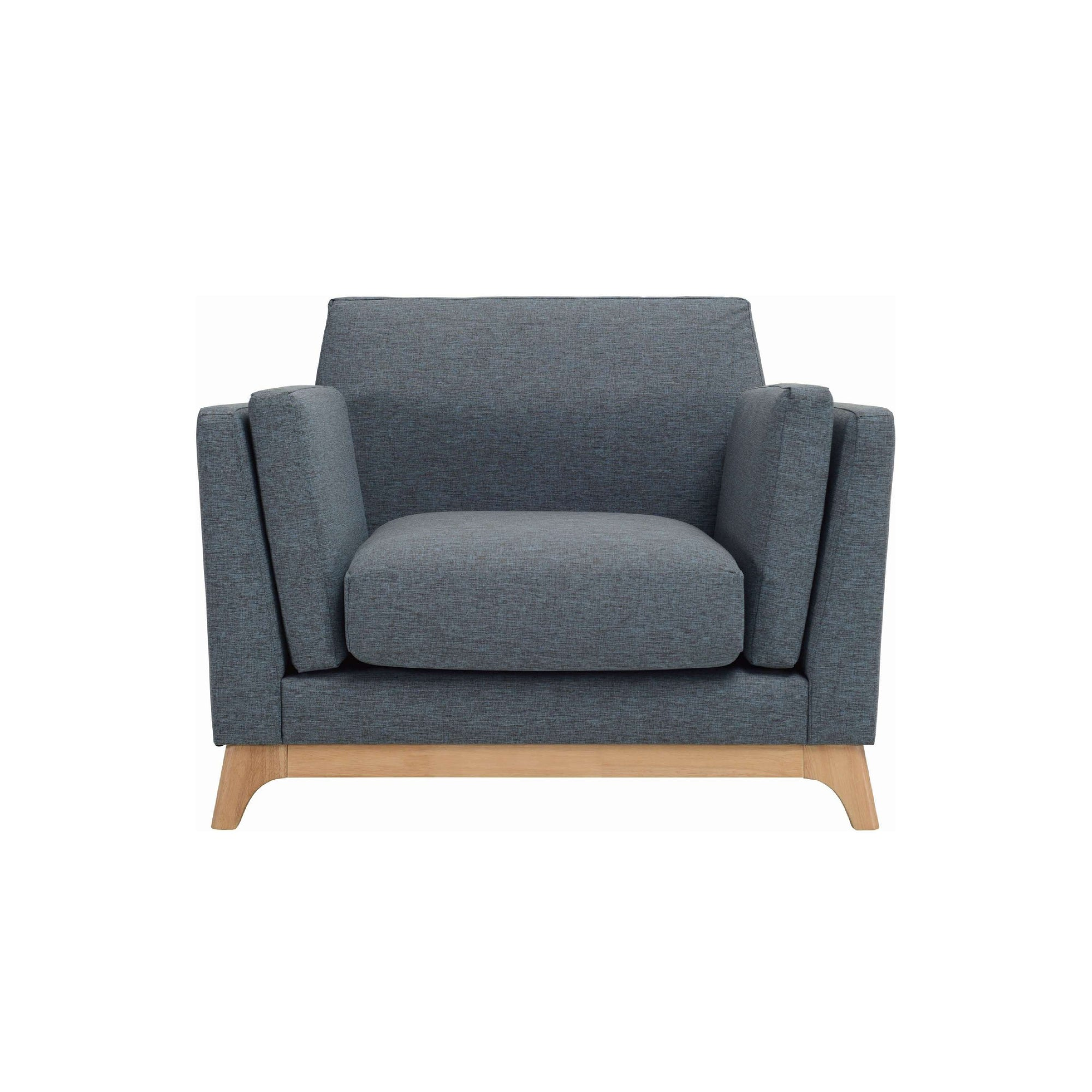 CENI 1 Seater Sofa in Whale Colour Delaine Fabric