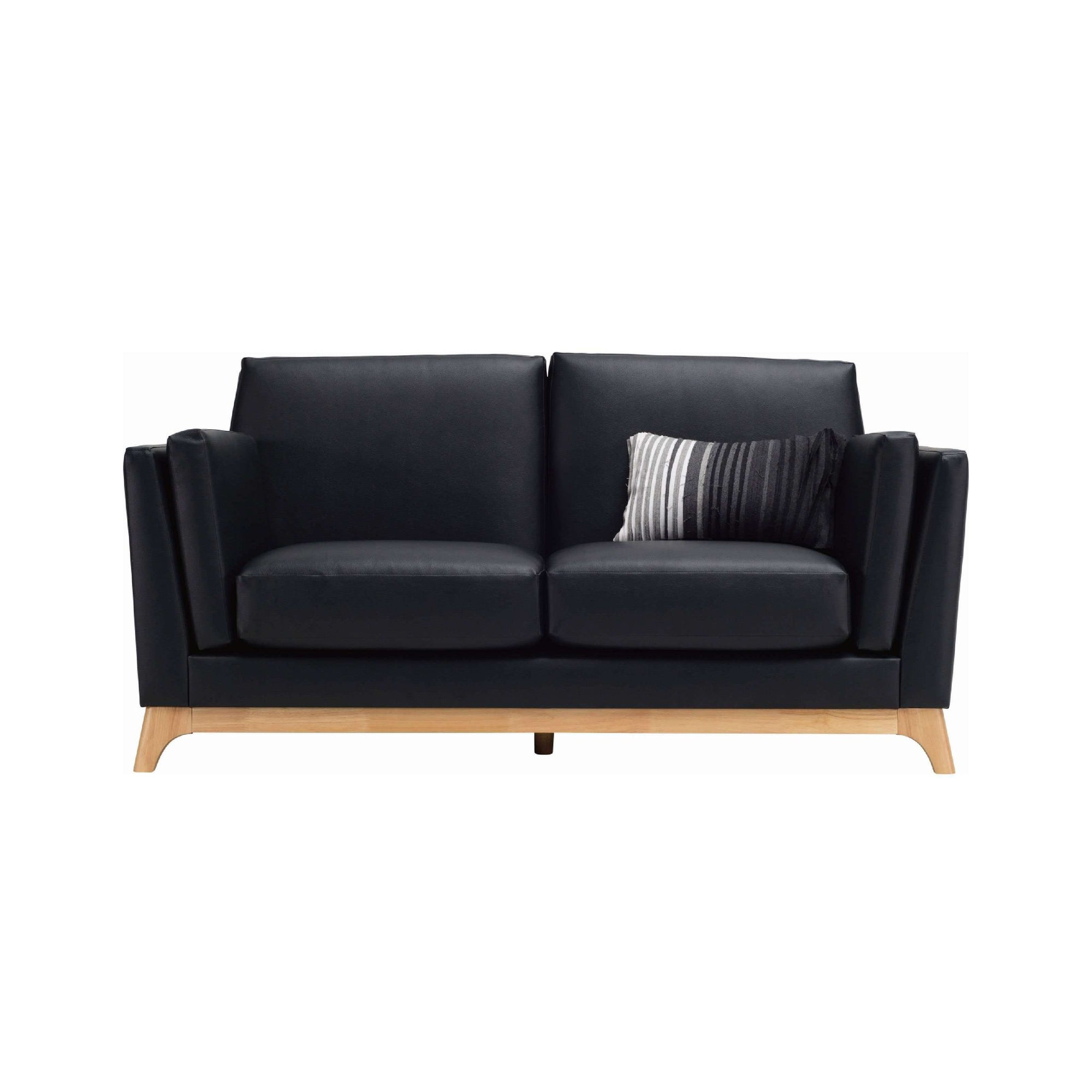 CENI 2 Seater Sofa in Espresso Colour Premium Vinyl