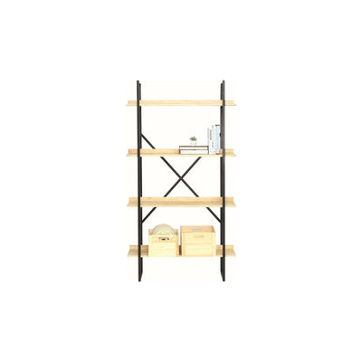 EGOR Shelf With Matt Black Epoxy Frame, Natural Colour Shelving