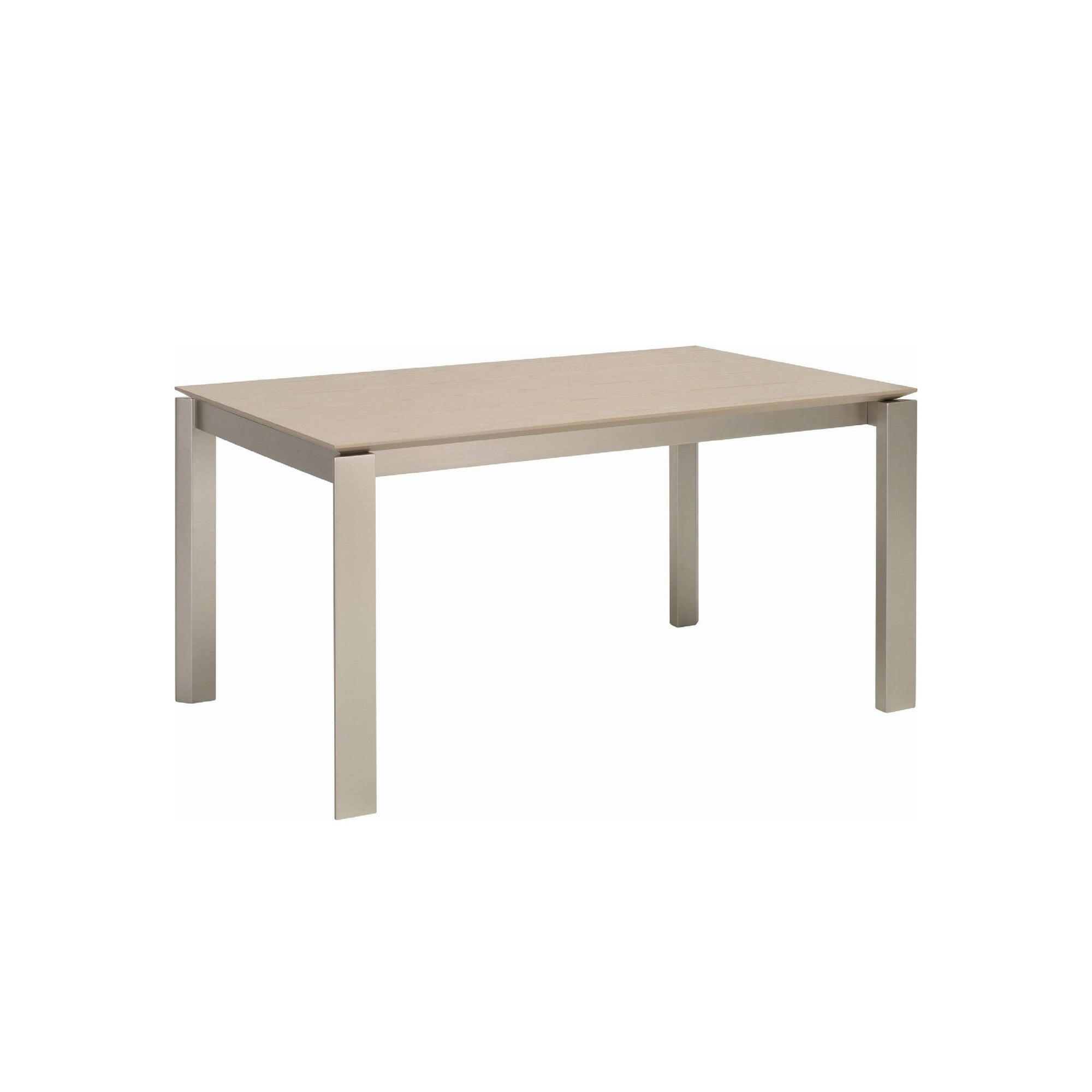 ELWOOD 1.5m Dining Table in Metalic Colour Leg, Taupe Grey Colour Top