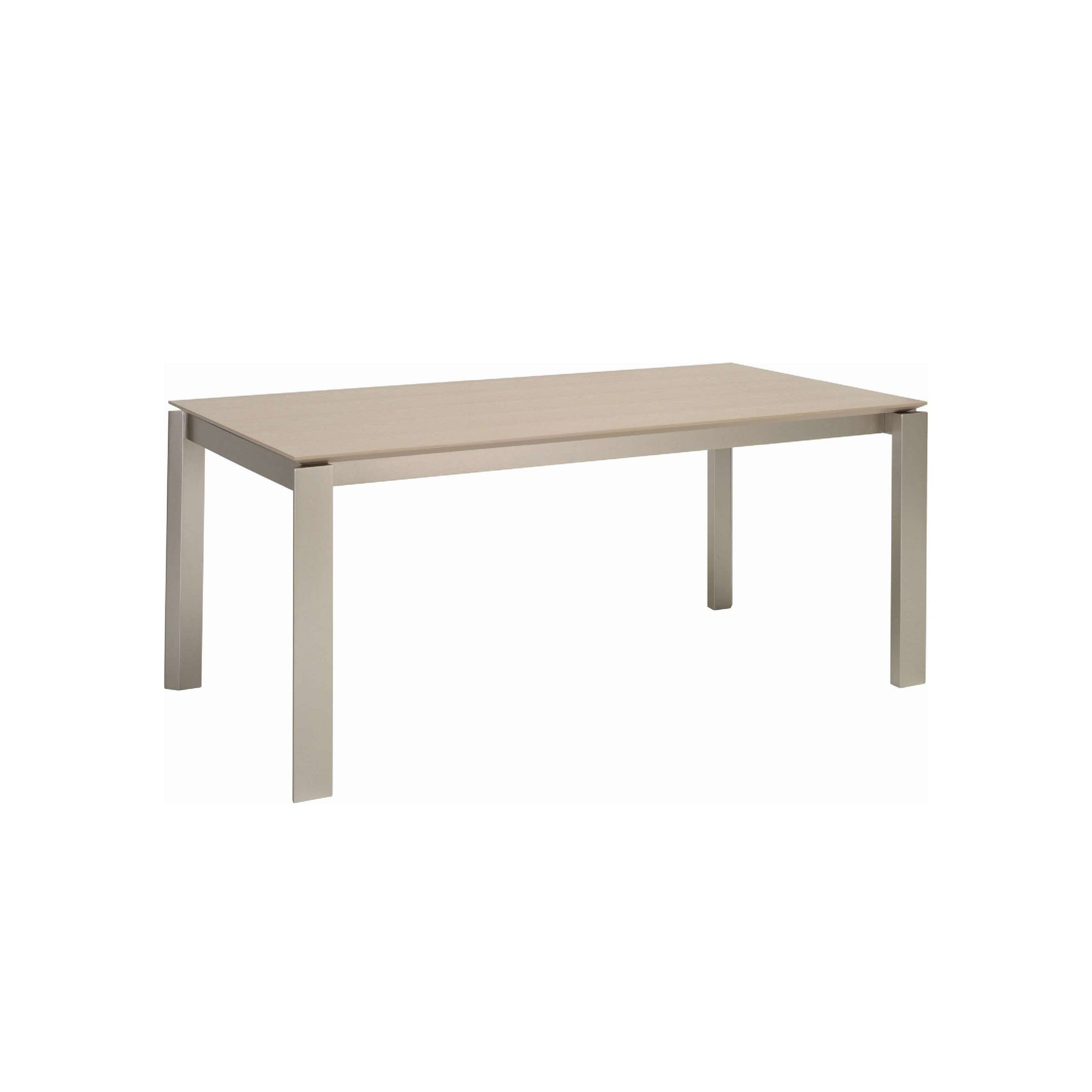 ELWOOD 1.8m Dining Table in Metalic Colour Leg, Taupe Grey Colour Top