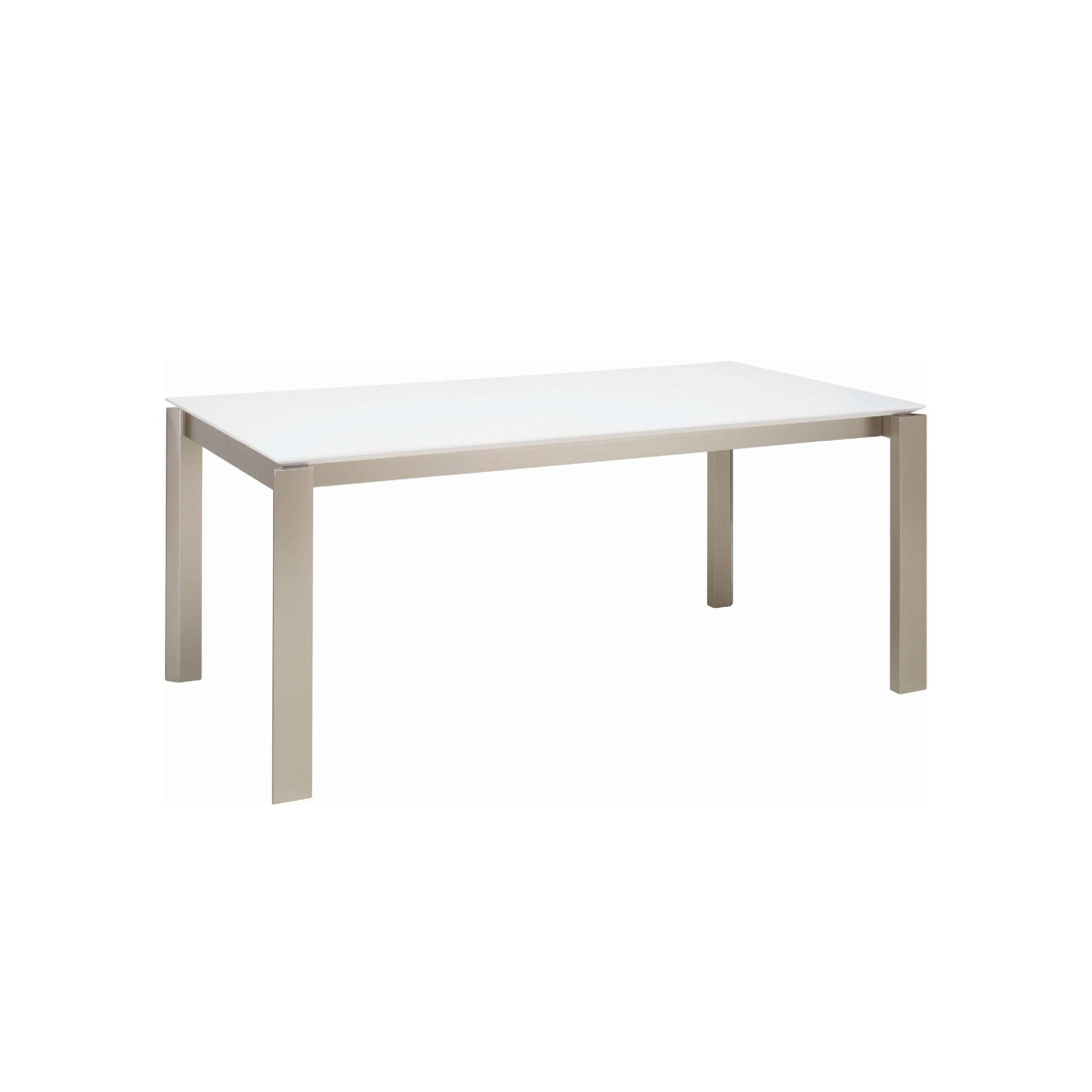 ELWOOD 1.8m Dining Table In Metalic Colour Leg, White Lacquered Top