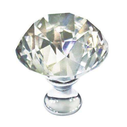 EXCEL - Elegance Diamond Knob-Chrome With Crystal