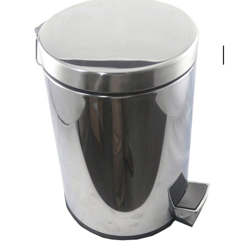 EXCEL-SS430 FOOT-STEPPED DUSTBIN-8 LITER