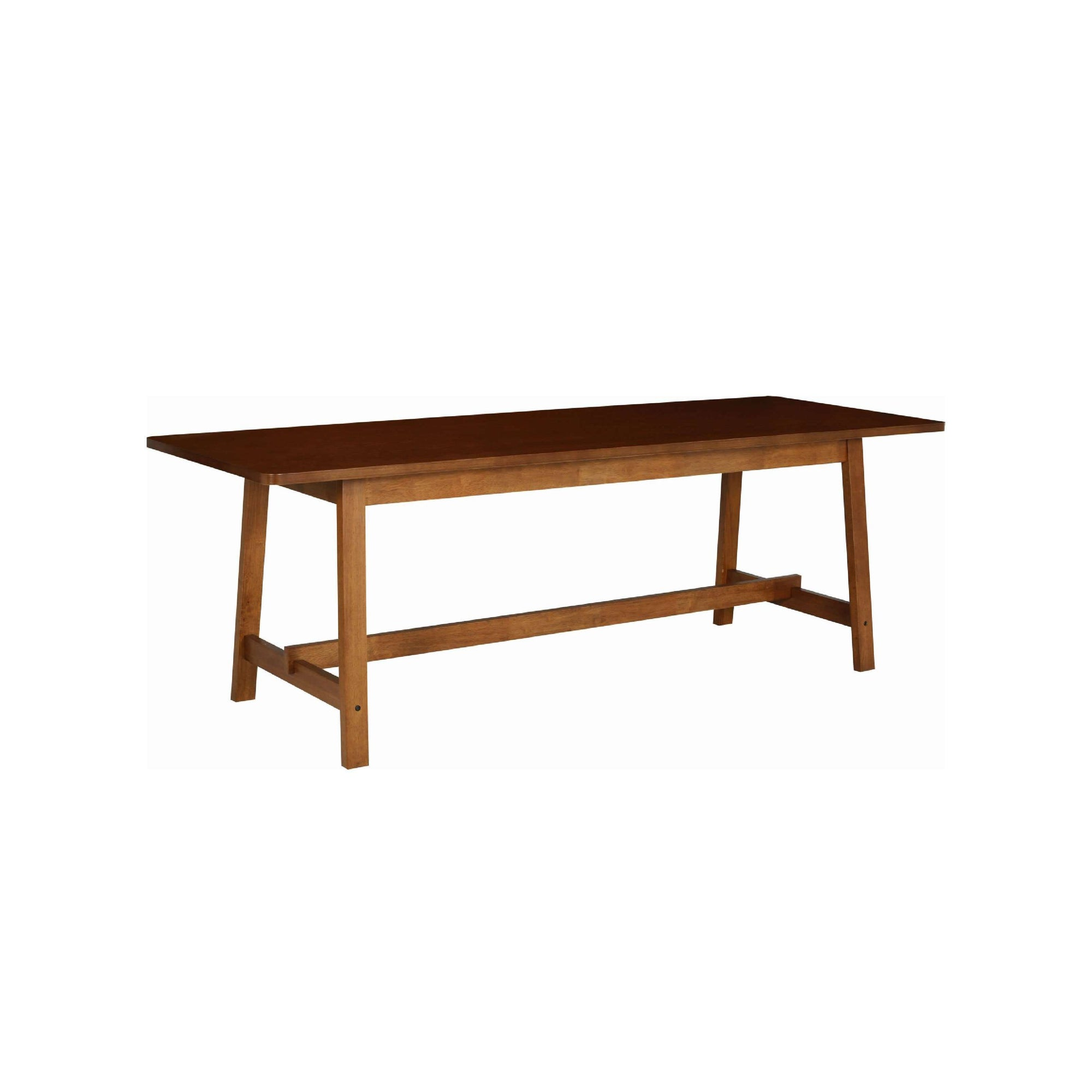 HAYNES 2.2m Dining Table In Cocoa Colour Leg, Walnut Laminate Top