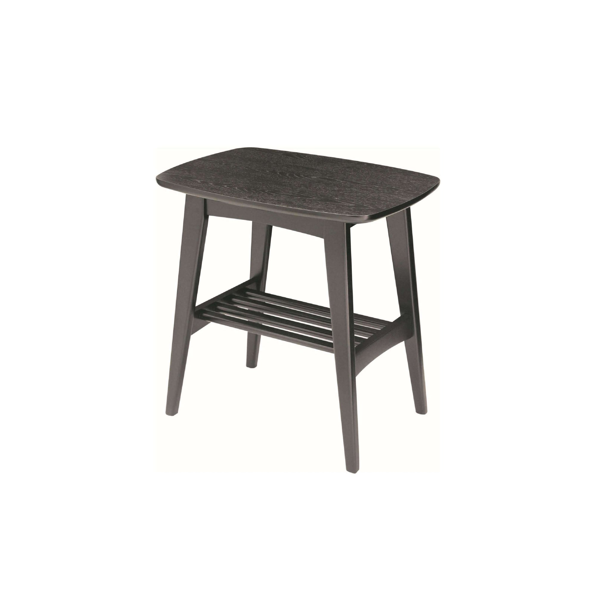 HUBIE Side Table in Black Ash Veneer